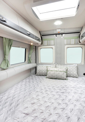 Rear double beds
