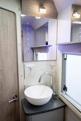 Wash basin with LED lights