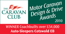 Coachbuilts over £54,000 awards Cotswold EB Winner