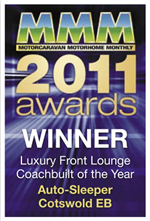 Luxury Front Lounge Coachbuilt of the Year awards Cotswold EB Winner