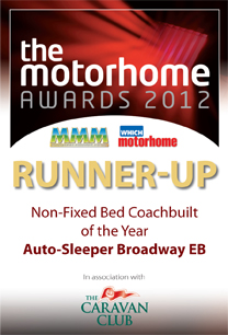 Non-Fixed Bed Coachbuilt of the Year awards Broadway EB Winner