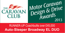 Coachbuilts over £45,000 awards Broadway EL Duo Runner up