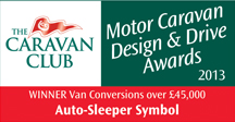Van Conversions over £45,000  awards Symbol Winner