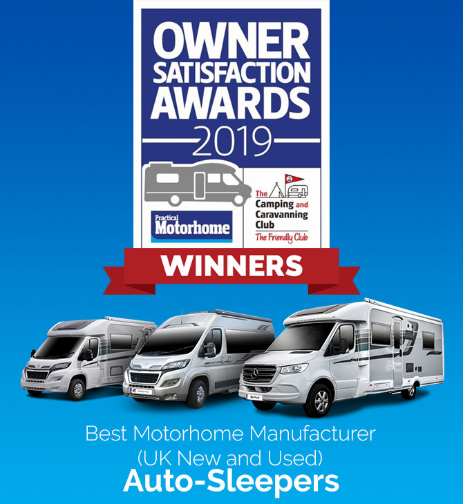 Best Motorhome Manufacturer (UK New & Used) awards  Winner