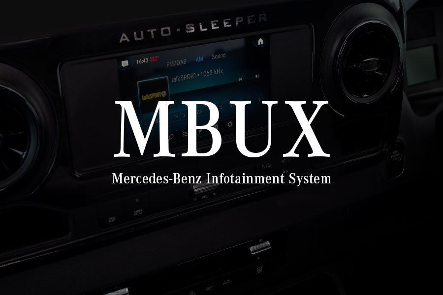 The MBUX infotainment system with 7-inch touchscreen