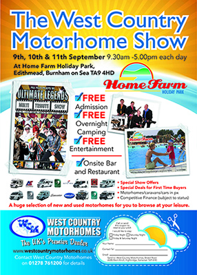 West Country Motorhome Show Flyer