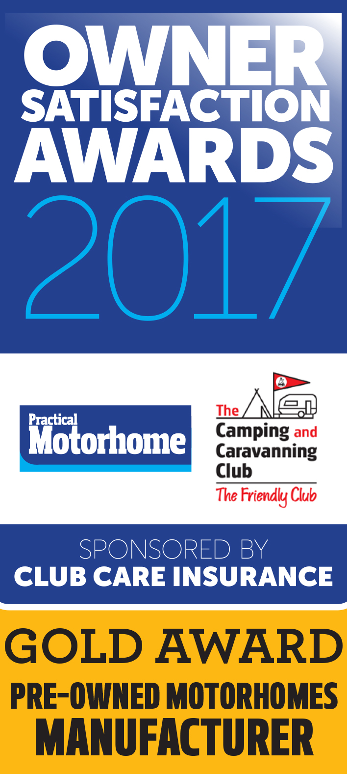 Gold Award Pre-Owned Motorhome Manufacturer
