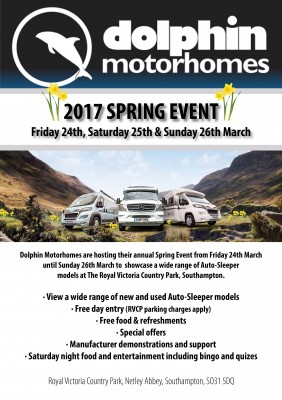 Dolphin Motorhomes Spring Event Flyer Image