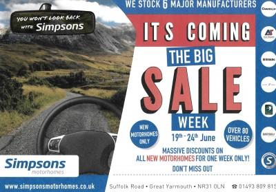 Simpsons Big Sale Week Flyer Image