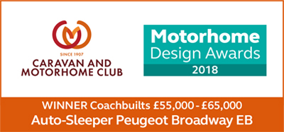 Caravan & Motorhome Club Motorhome Design Awards 2018 Broadway EB Award
