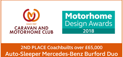 Motorhome Design Awards 2018 Burford Duo Image