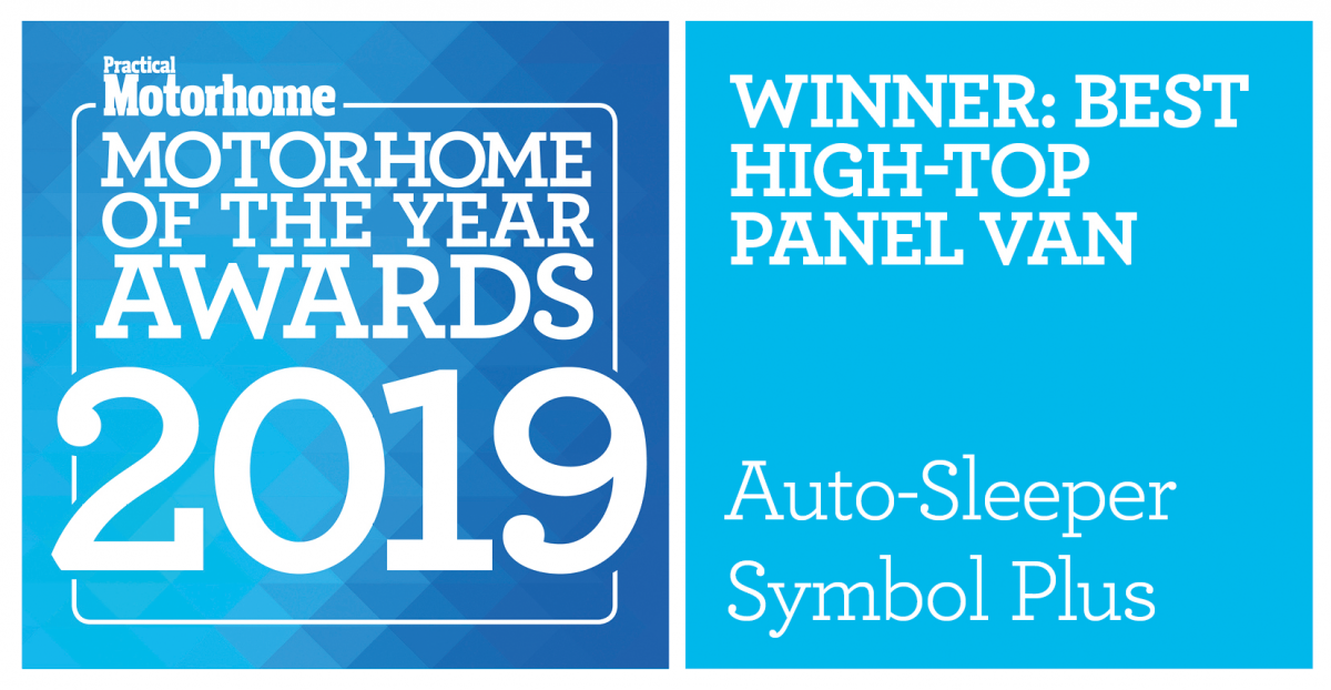 Practical Motorhome Awards 2019 -Auto Sleeper Symbol Plus Winner