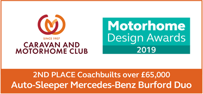 Motorhome Design Awards 2019 Burford Duo 2nd Place Award