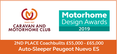 Motorhome Design Awards 2019 Nuevo ES 2nd Place Award