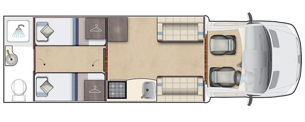 Burford Duo Daytime floorplan