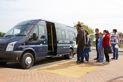 Students using our Minibus Service