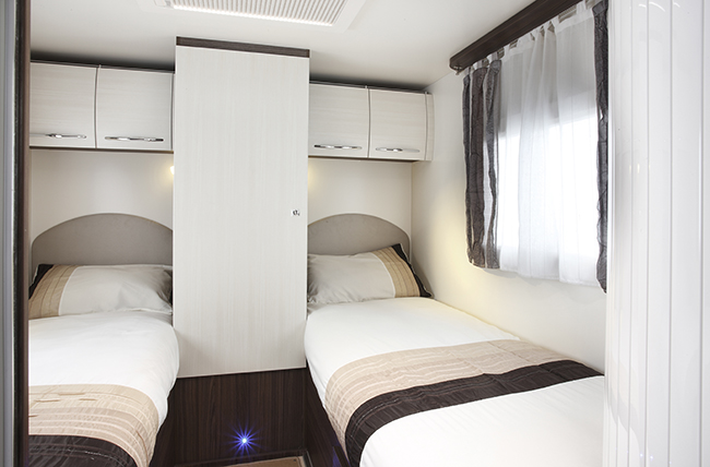 Motorhomes With  Fixed Single Beds