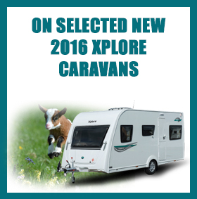 On selected new 2016 Xplore caravans