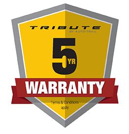Tribute 5 year warranty logo