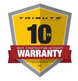 Tribute 10 year warranty logo