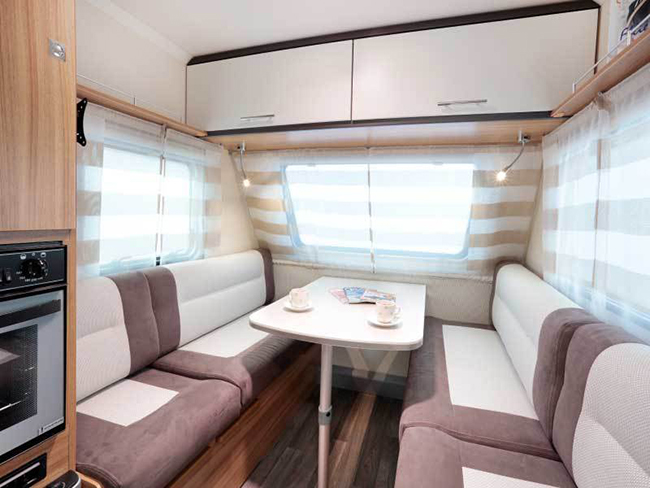 The Caravelair Antares 335 Is Most Compact And Lightest Caravan In Range With 2 Beds Front Of Boasts A Large Seating Area Which Can Be