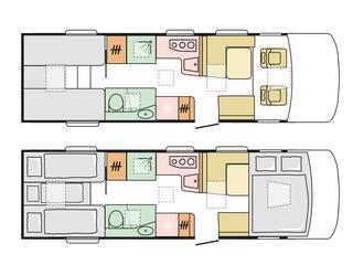 Sonic 810SL Floorplan