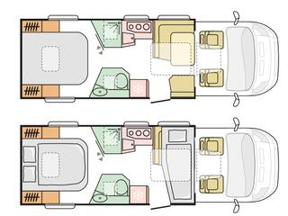 Coral 670SC Floorplan