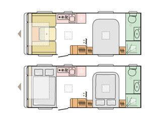 Adora 613 DT Isonza Floorplan