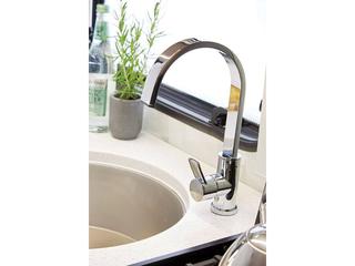 Chrome ceramic kitchen tap