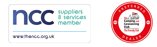 Approved dealerships part of the Camping and Caravanning Club Preferred dealer scheme