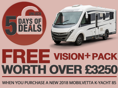 The Final Mobilvetta Deal has Been Unlocked! Claim Your FREE Vision+ pack when purchasing a K-Yacht 85!