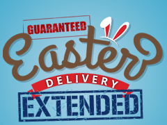 Guaranteed Easter Delivery extended until 12th April!