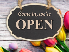 We are Open this Easter - find out our opening hours!