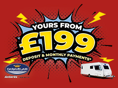 The Caravelair Antares 485 is yours from £199 Deposit & Monthly Payments!