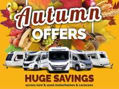 Visit us for the Last Day of the Motorhome & Caravan Show FOR FANTASTIC SHOW & AUTUMN OFFERS!