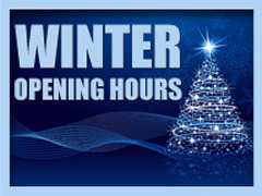 SUNDAY OPENING HOURS THIS WINTER