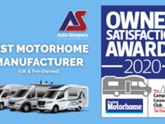 AUTO-SLEEPERS WINS BEST MOTORHOME MANUFACTURER… AGAIN!