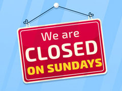 Our branches might be closed on Sundays, but our website is ALWAYS open