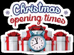 CHRISTMAS OPENING HOURS BEGIN