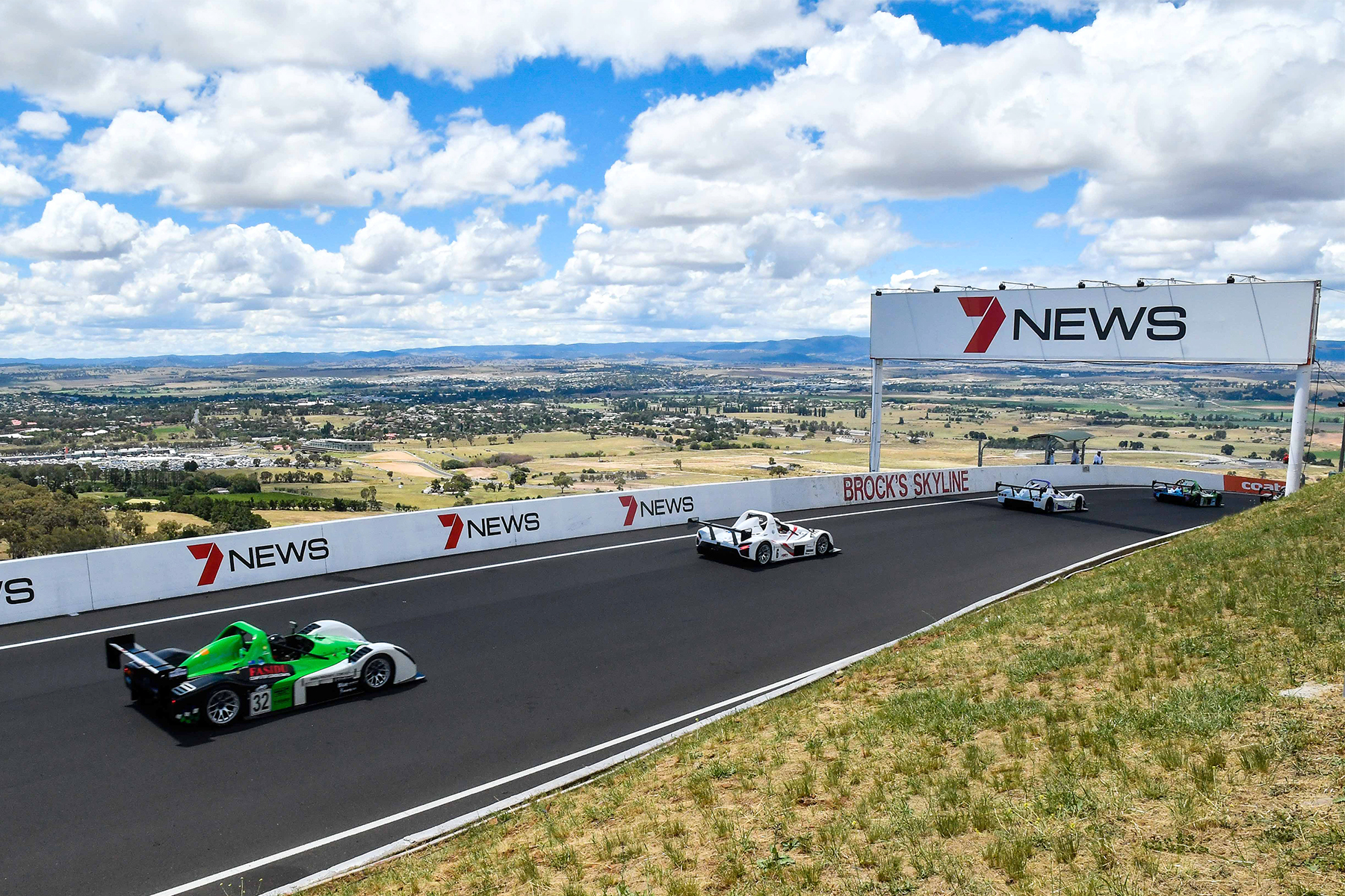 Action from Race 2 at the Radical Australia Cup at Mount Panorama Bathurst