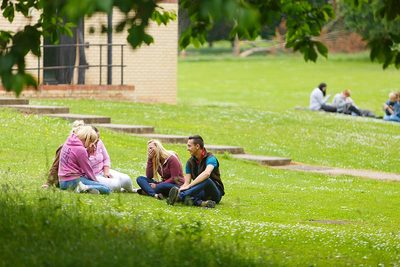 Students on the Lawns