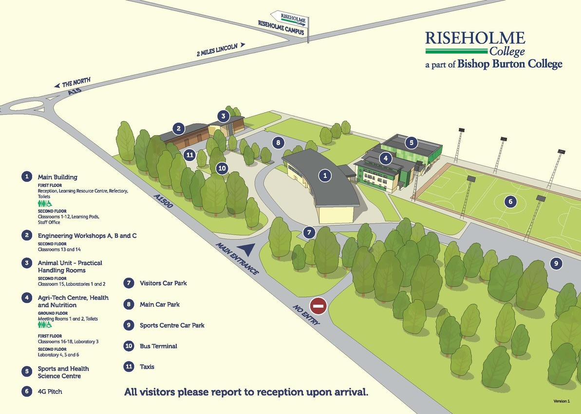Campus Map Riseholme College