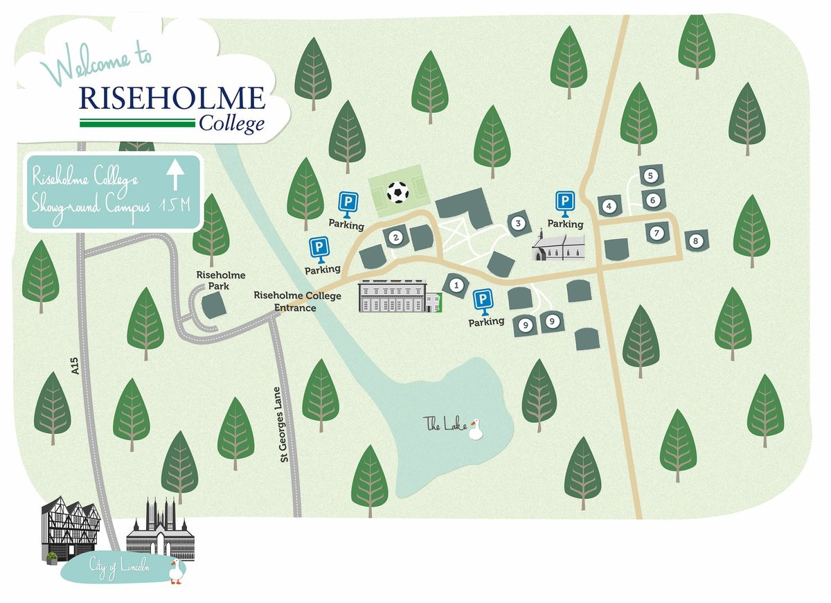 Riseholme Campus Map