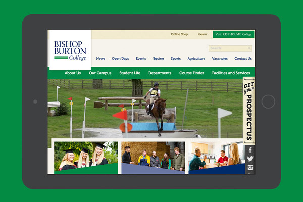 Bishop burton college website
