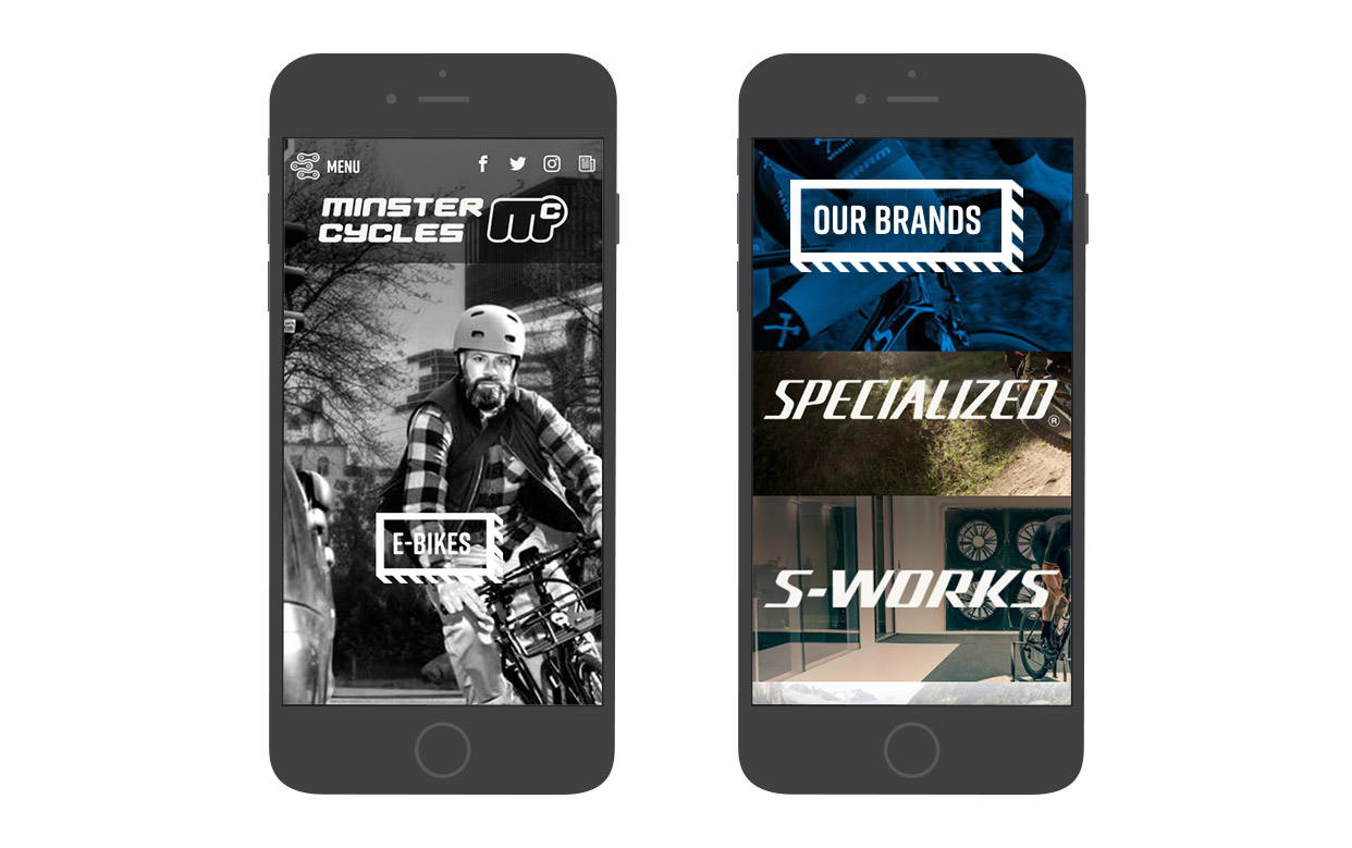 Minster Cycles Mobile website