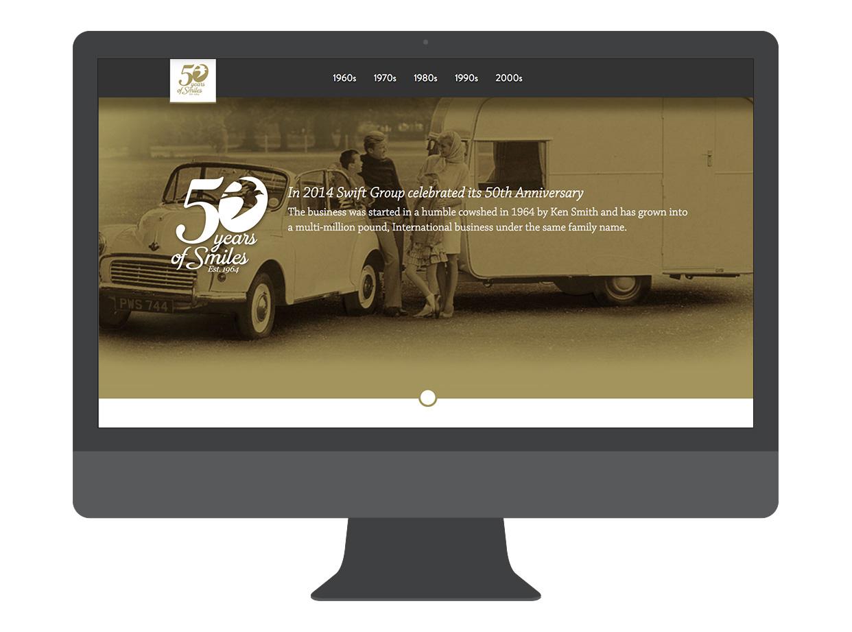 50 Years website