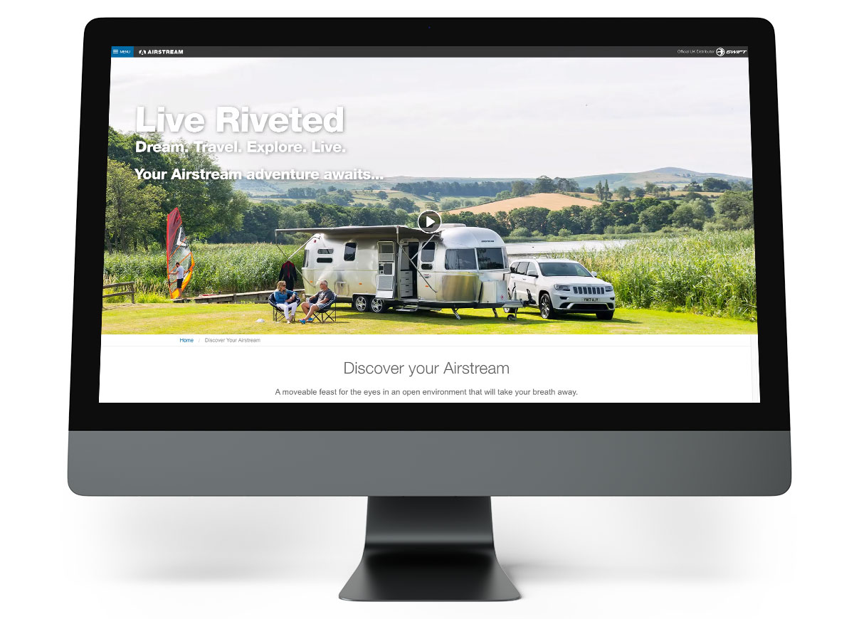 Airstream Site on Desktop